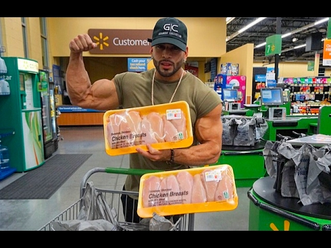 SAVE MONEY !! | CHEAP BODYBUILDING DIET GROCERY SHOPPING - YouTube